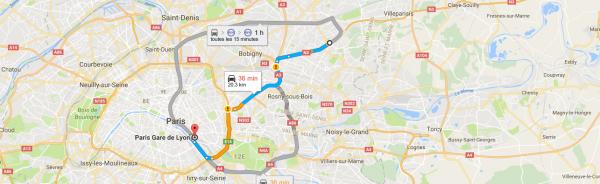 Bus Gare de Lyon - Charles de Gaulle