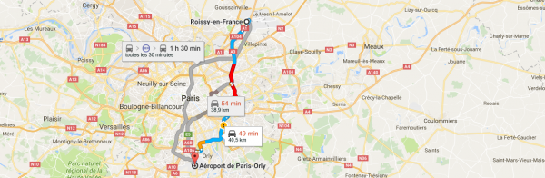 Taxi From CDG to Orly