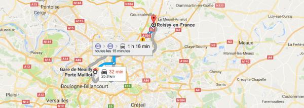 Navette Roissy - Porte Maillot